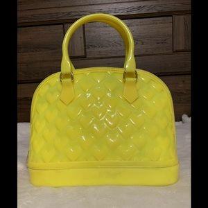 Betsey Johnson pvc yellow purse
